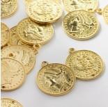 Zdjęcie - Metalowa zawieszka moneta