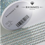 Zdjęcie - Taśma z kryształkami kolor srebrny aquamarine AB
