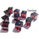 Zdjęcie - Szklane kostki rubinowe