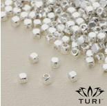 Zdjęcie - Koralik sześcian w srebrnym kolorze