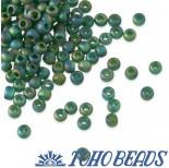 Zdjęcie - Koraliki TOHO Round Trans-Rainbow-Frosted Green Emerald