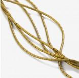 Zdjęcie - Hematyt platerowany walec matowy złoty