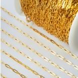 Zdjęcie - Łańcuch ze stali chirurgicznej owale błyszczące złoty