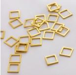 Zdjęcie - Srebrna zawieszka- łącznik kwadrat wycinany AG925 złoty