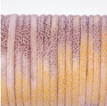 Zdjęcie - Rzemień klejony różowo łososiowy w kropeczki