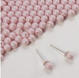Zdjęcie - 5818 round pearl do kolczyków pastel rose