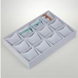 Zdjęcie - Ekspozytor welurowy z poduszkami 12 komorowy szary