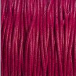 Zdjęcie - Sznurek bawełniany woskowany fuksja