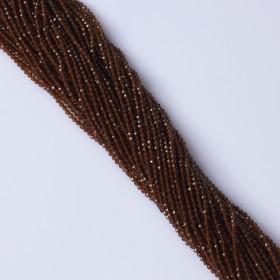 Zdjęcie - Granat brązowy syntetyczny kulka fasetowana