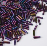 Zdjęcie - Koraliki Miyuki Bugles #2 6 mm Metallic Purple Iris