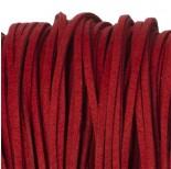 Zdjęcie - Rzemień zamszowy płaski czerwony