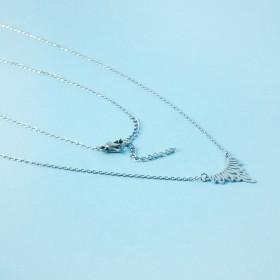 Zdjęcie - Naszyjnik z mini zawieszkami ze stali chirurgicznej ażur srebrny