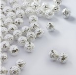Zdjęcie - Koraliki metalowe kulki w kółeczka