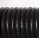 Zdjęcie - Rzemień naturalny lakierowany czarny