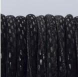 Zdjęcie - Rzemień szyty czarne prostokąty