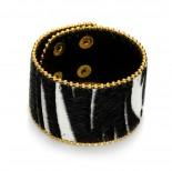 Zdjęcie - Czarno biała bransoletka zebra włochata