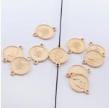 Zdjęcie - Srebrna moneta łącznik Elżbieta II pozłacana