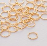 Zdjęcie - Srebrny łącznik  koło diamentowe ag925 złocone