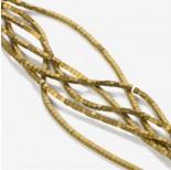 Zdjęcie - Hematyt platerowany kostka matowa złota
