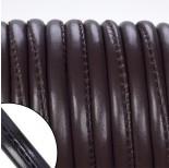 Zdjęcie - Rzemień szyty wewnętrznie ciemna czekolada