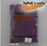 Zdjęcie - Koraliki NihBeads Metallic Frosted Granate