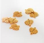 Zdjęcie - Łącznik ze stali chirurgicznej liść monstery złoty