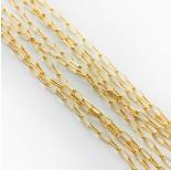 Zdjęcie - Srebrny łańcuszek rolo podłużny AG925 pozłacany