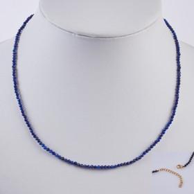 Zdjęcie - Naszyjnik z lapisu lazuli w stali chirurgicznej