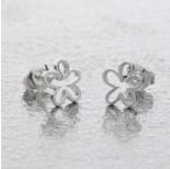 Zdjęcie - Srebrne kolczyki kwiatki, próba Ag925