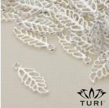 Zdjęcie - Zawieszka ażurowy liść orzecha w srebrnym kolorze