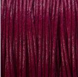 Zdjęcie - Sznurek bawełniany woskowany bordowy