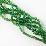 Zdjęcie - Agat zielony kulka fasetowana sharp cut