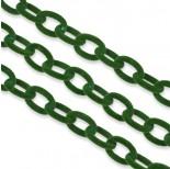 Zdjęcie - Zielony łańcuch owal welurowy