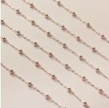 Zdjęcie - Srebrny łańcuch simple płaski z kuleczkami ag925