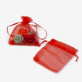 Zdjęcie - Woreczki z organzy czerwone