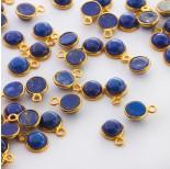 Zdjęcie - Lapis lazuli krążek w okuciu zawieszka AG925