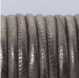 Zdjęcie - Rzemień szyty metaliczny srebrny