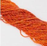 Zdjęcie - Cyrkonia kulka fasetowana pomarańczowa