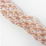 Zdjęcie - Perły seashell kulka różowo biała