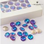 Zdjęcie - Kryształy Rhinnes flat diamond heliotrope