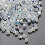 Zdjęcie - 5328 bicone bead, SWAROVSKI, white opal AB,