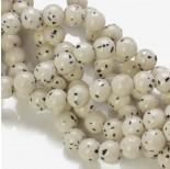 Zdjęcie - Jadeit marmurkowy kulka gładka biały nakrapiany