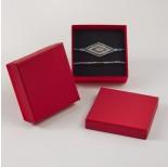 Zdjęcie - Pudełko do biżuterii ozdobne kwadratowe czerwone