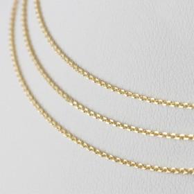 Zdjęcie - Srebrny łańcuszek simple Ag 925 gotowy, pozłacany
