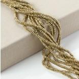 Zdjęcie - Hematyt oponka fasetowana platerowana złota