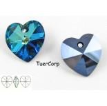 Zdjęcie - 6228 heart pendant, SWAROVSKI, bermuda blue,