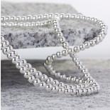 Zdjęcie - Hematyt kulki platerowane gładkie white silver