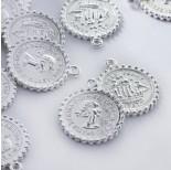 Zdjęcie - Metalowa zawieszka moneta duża