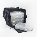 Zdjęcie - Materiałowa torba z plastikowymi pudełkami