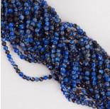 Zdjęcie - Agat kulka fasetowana niebieskoczarny